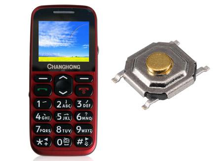 功能手机拨号键轻触开关KAN0542应用案例