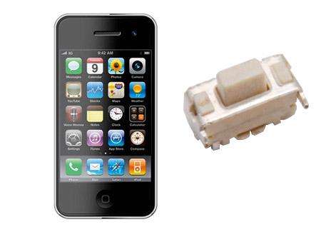 智能手机电源键音量键轻触开关KAN0241H应用案例