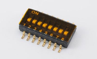 SHP-08TG-V-TR贴片(2-8位)拨码开关