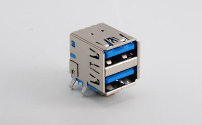 USB 3.0 AF 双层90度短体