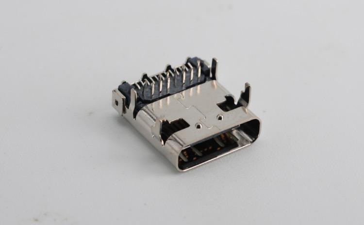 usb type c母座 半插半贴