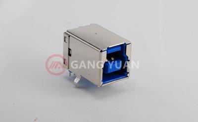 USB3.0 BF90° 蓝铜1u H款